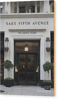 San Francisco Saks Fifth Avenue Store Doors - 5d20574 Wood Print by Wingsdomain Art and Photography