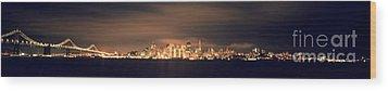 San Francisco Skyline Wood Print by Ron Smith