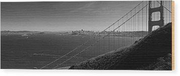 San Francisco Through The Golden Gate Bridge Wood Print by Twenty Two North Photography