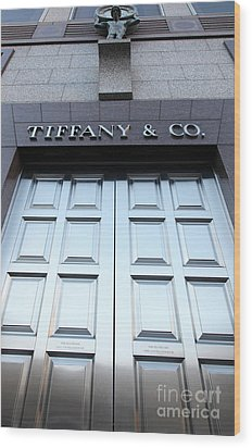 San Francisco Tiffany And Company Store Doors - 5d20562 Wood Print by Wingsdomain Art and Photography