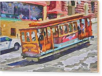 San Francisco Trams 5 Wood Print by Yury Malkov