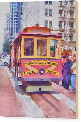 San Francisco Trams 7 Wood Print by Yury Malkov