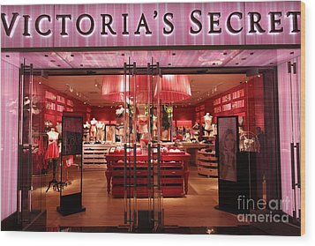 San Francisco Victoria's Secret Store - 5d20652 Wood Print by Wingsdomain Art and Photography
