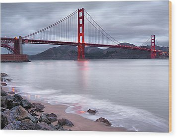 San Francisco's Golden Gate Bridge Wood Print