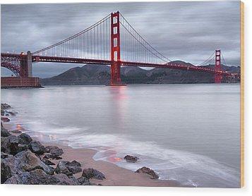 San Francisco's Golden Gate Bridge Wood Print by Gregory Ballos