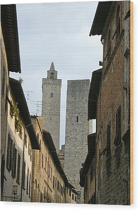 Wood Print featuring the photograph San Gimignano Italy by Victoria Lakes
