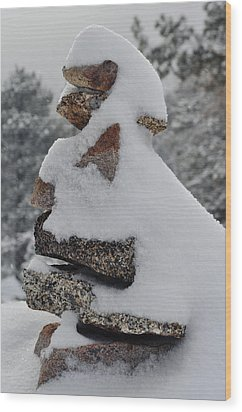 Wood Print featuring the photograph San Jacinto Balanced Rocks by Kyle Hanson