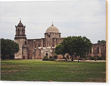 Wood Print featuring the photograph San Jose Mission by Andy Crawford