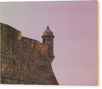 San Juan - City Lookout Post Wood Print