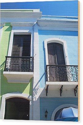 San Juan Balconies Wood Print