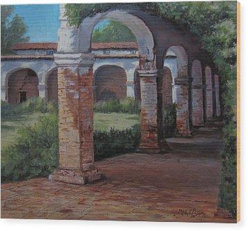 San Juan Capistrano  Wood Print by Mar Evers