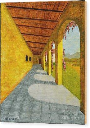 San Juan Capistrano Mission Wood Print