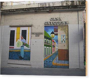 San Juan - Casa Galguera Mural Wood Print