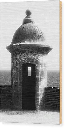 San Juan Guard Tower Wood Print by John Rizzuto
