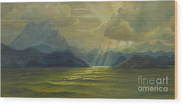 Wood Print featuring the painting San Juan Islands by Jeanette French