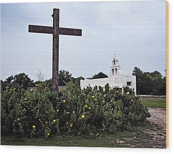 San Juan Mission Wood Print by Andy Crawford