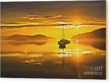 San Juan Sunrise Wood Print by Robert Bales