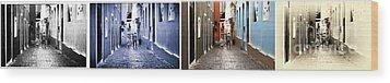San Juan Tones Collage Wood Print by John Rizzuto