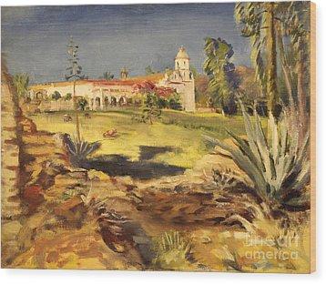 San Luis Rey Mission 1947 Wood Print