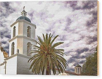San Luis Rey Mission Wood Print by James David Phenicie