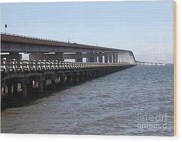 San Mateo Bridge In The California Bay Area 5d21892 Wood Print by Wingsdomain Art and Photography