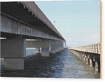 San Mateo Bridge In The California Bay Area 5d21898 Wood Print by Wingsdomain Art and Photography