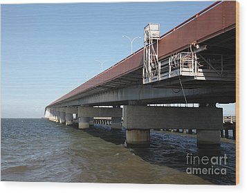 San Mateo Bridge In The California Bay Area 5d21900 Wood Print by Wingsdomain Art and Photography