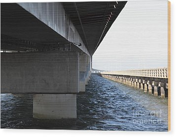 San Mateo Bridge In The California Bay Area 5d21908 Wood Print by Wingsdomain Art and Photography