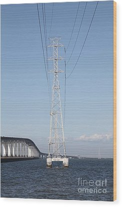 San Mateo Bridge In The California Bay Area 5d21909 Wood Print by Wingsdomain Art and Photography