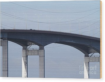 San Mateo Bridge In The California Bay Area 7d21910 Wood Print by Wingsdomain Art and Photography