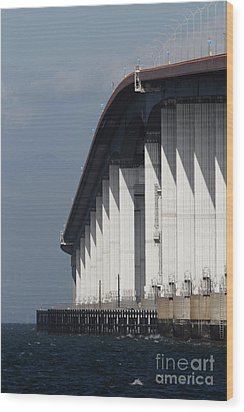 San Mateo Bridge In The California Bay Area 7d21935 Wood Print by Wingsdomain Art and Photography