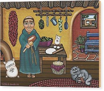 San Pascuals Kitchen Wood Print by Victoria De Almeida