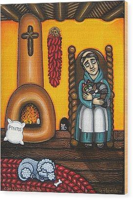 San Pascuals Nap Wood Print by Victoria De Almeida