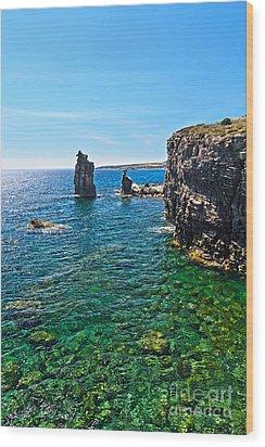 San Pietro Island - Le Colonne Wood Print