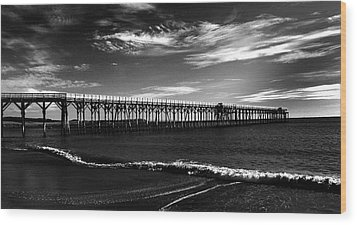 San Simeon Pier-03 Wood Print