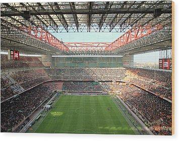San Siro Stadium Wood Print by Valentino Visentini