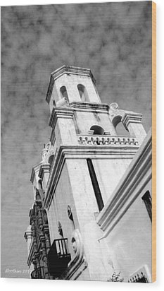 San Xavier Bell Tower Wood Print