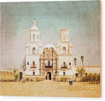 San Xavier Del Bac Mission Wood Print by Marianne Jensen