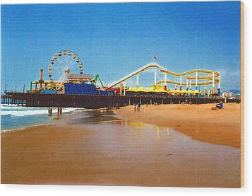 Sana Monica Pier Wood Print by Daniel Thompson