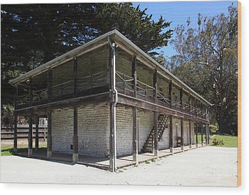 Sanchez Adobe Pacifica California 5d22642 Wood Print by Wingsdomain Art and Photography