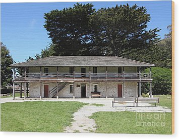Sanchez Adobe Pacifica California 5d22644 Wood Print by Wingsdomain Art and Photography