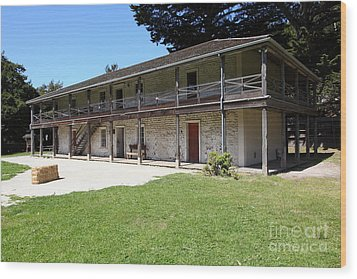 Sanchez Adobe Pacifica California 5d22647 Wood Print by Wingsdomain Art and Photography