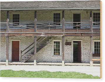 Sanchez Adobe Pacifica California 5d22655 Wood Print by Wingsdomain Art and Photography