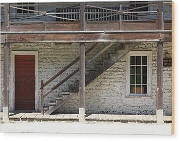 Sanchez Adobe Pacifica California 5d22656 Wood Print by Wingsdomain Art and Photography