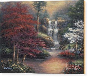 Sanctuary Wood Print by Chuck Pinson
