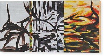 Sanctuary  Wood Print by Hatin Josee