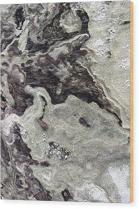 Sand Abstract Wood Print by Marcia Lee Jones
