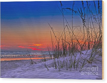 Sand And Sea Wood Print by Marvin Spates