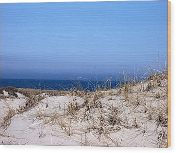 Sand And Sky Wood Print by Catherine Gagne