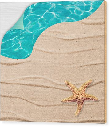 Sand Background Wood Print by Amanda Elwell